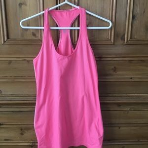 Lululemon Cool Racerback Dune/Flash Stripe Size 8